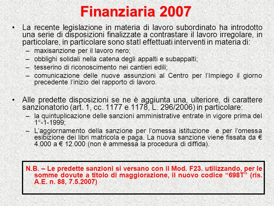 Finanziaria 2007