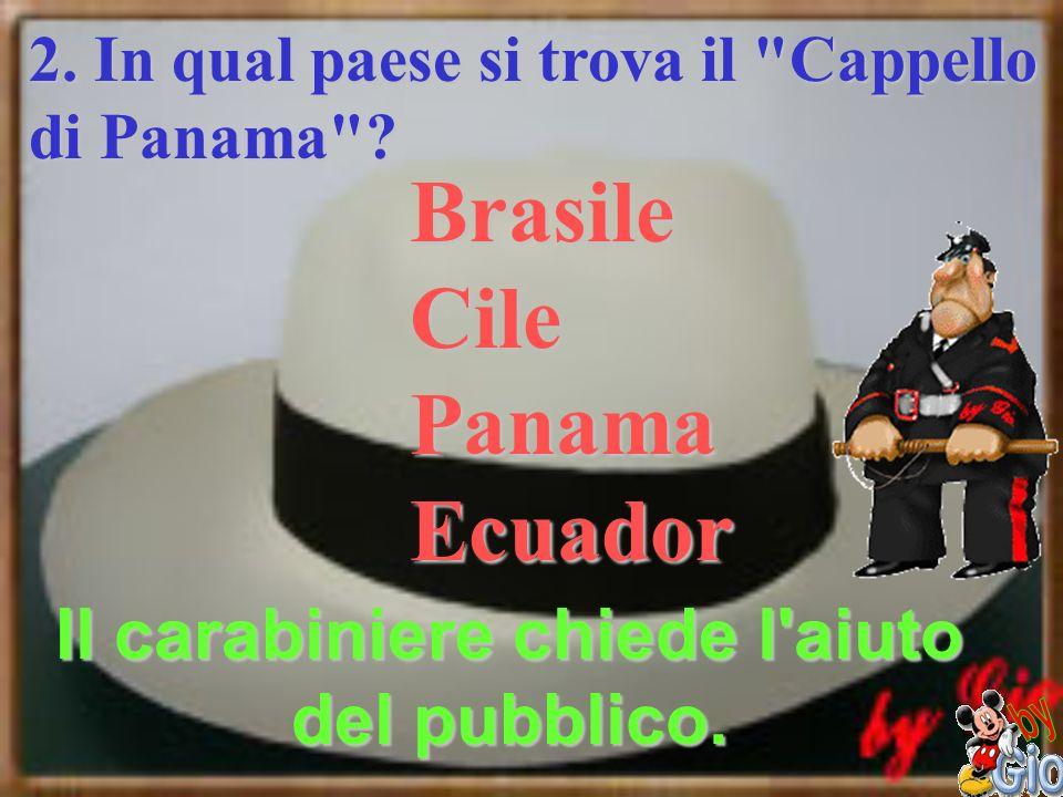 Il carabiniere chiede l aiuto del pubblico.