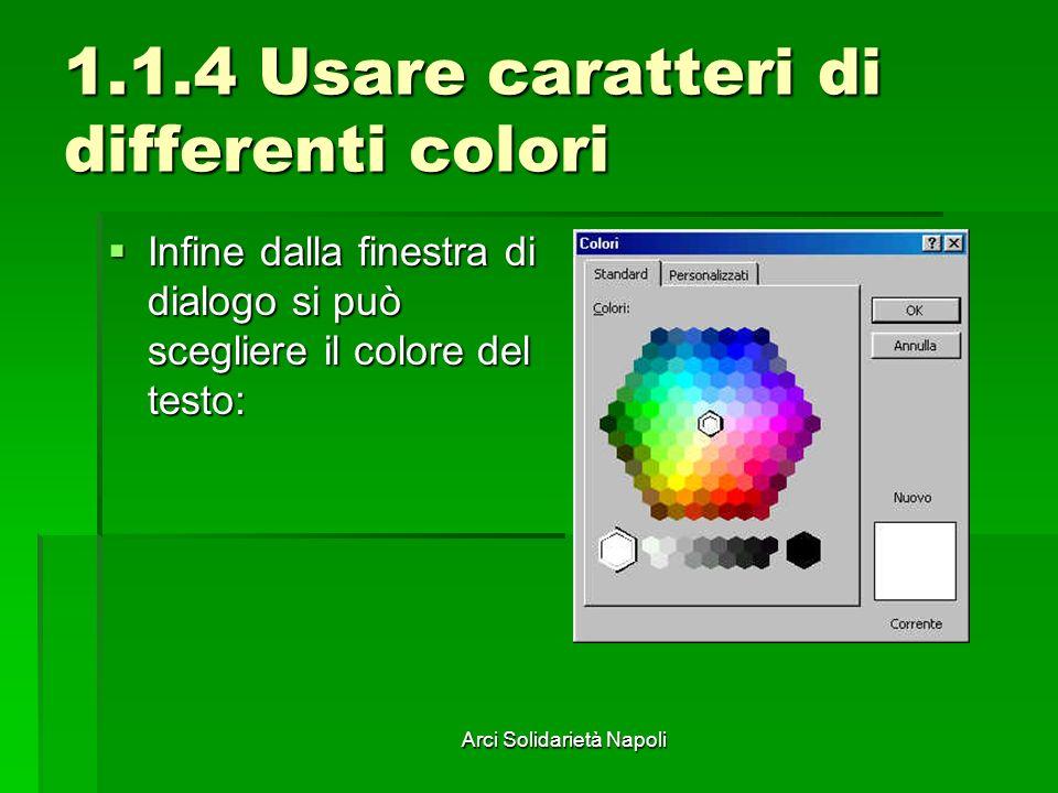 1.1.4 Usare caratteri di differenti colori