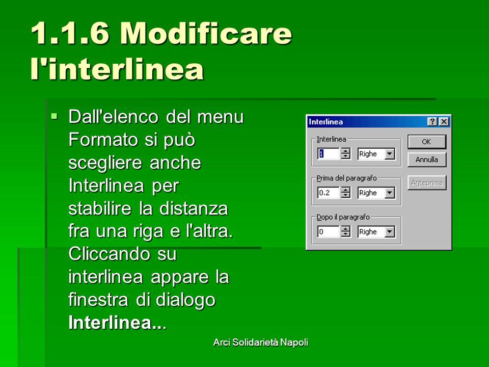 1.1.6 Modificare l interlinea