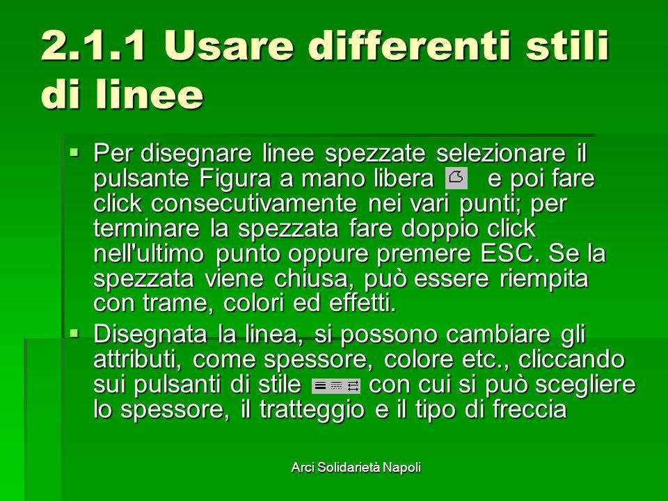 2.1.1 Usare differenti stili di linee