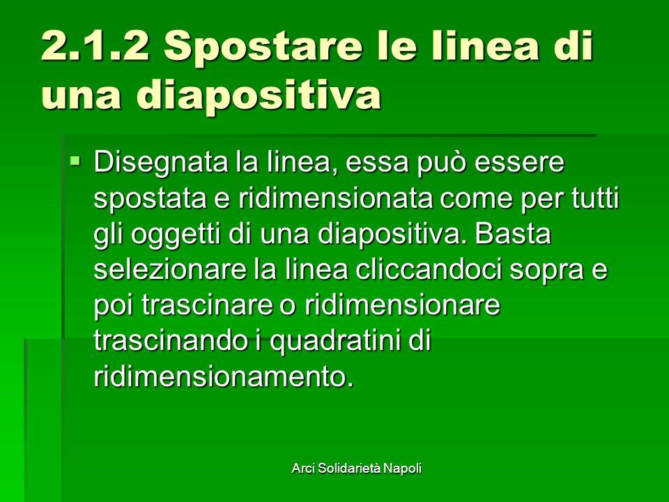2.1.2 Spostare le linea di una diapositiva