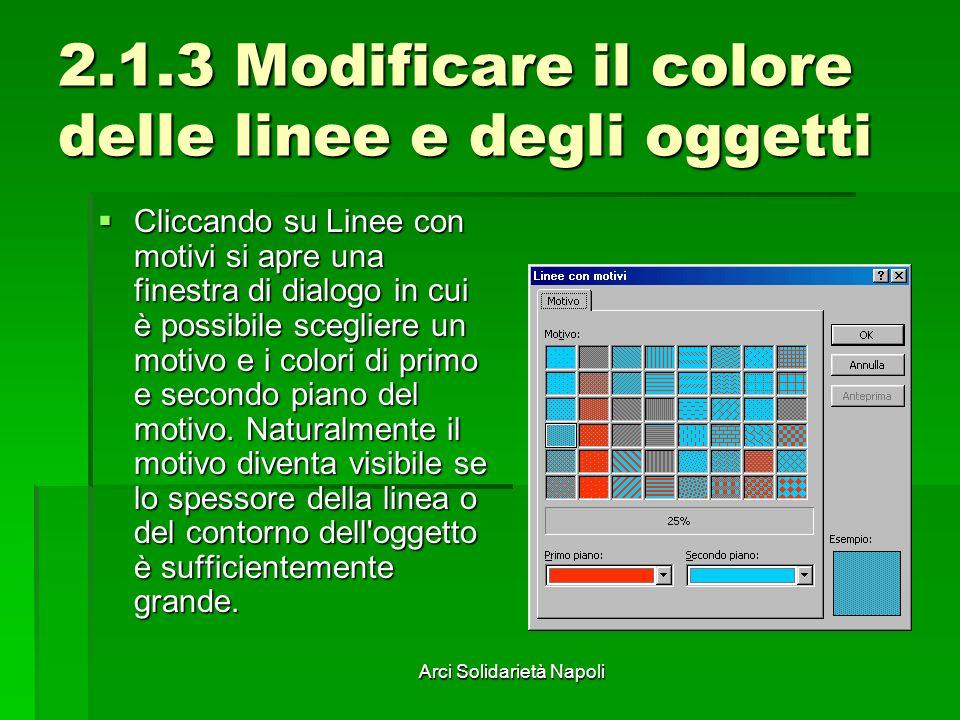 2.1.3 Modificare il colore delle linee e degli oggetti