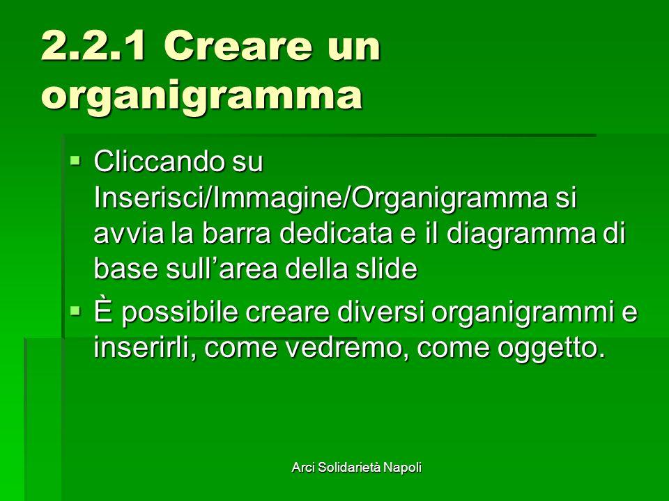 2.2.1 Creare un organigramma