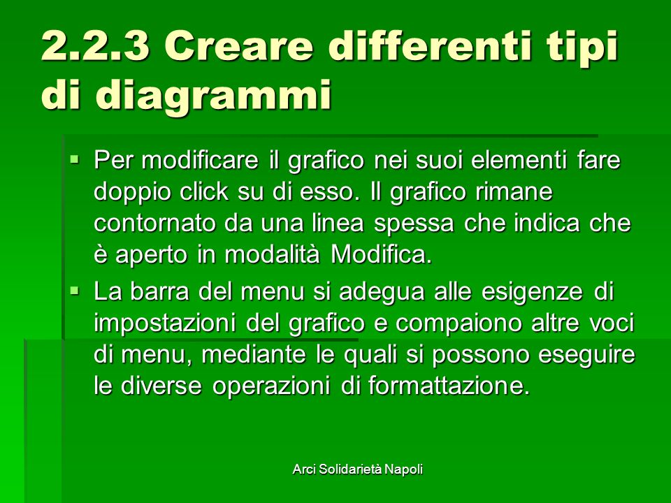2.2.3 Creare differenti tipi di diagrammi