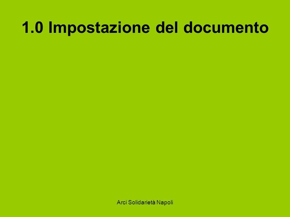 1.0 Impostazione del documento