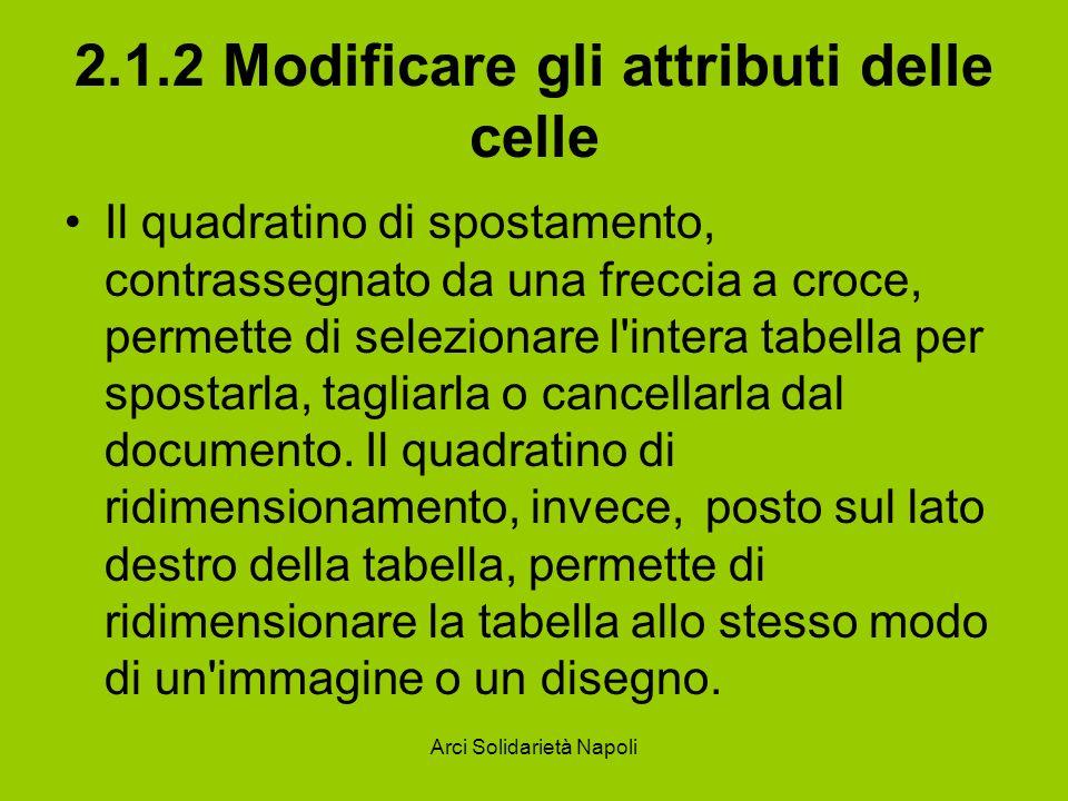 2.1.2 Modificare gli attributi delle celle