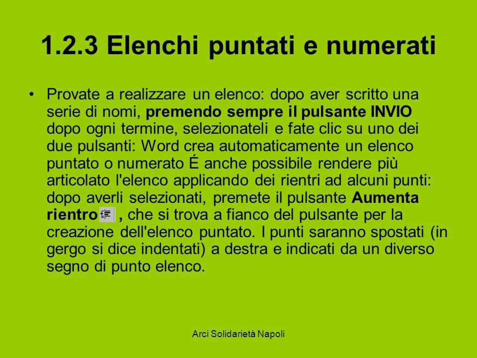 1.2.3 Elenchi puntati e numerati