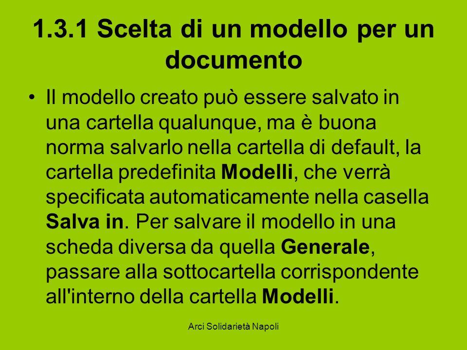 1.3.1 Scelta di un modello per un documento