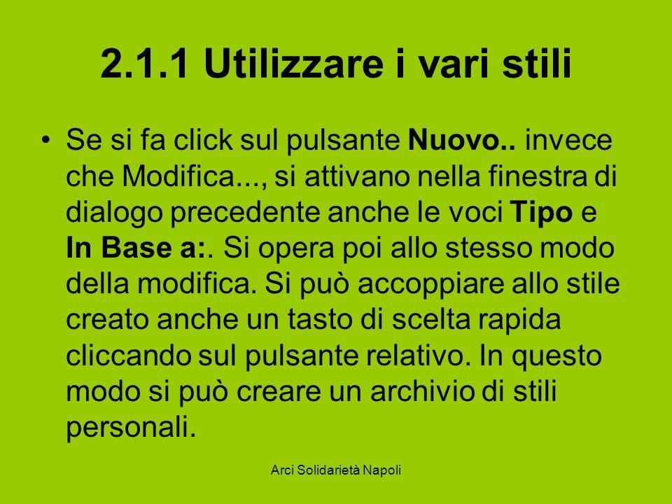 2.1.1 Utilizzare i vari stili