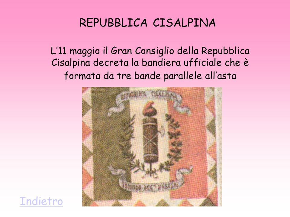 REPUBBLICA CISALPINA Indietro