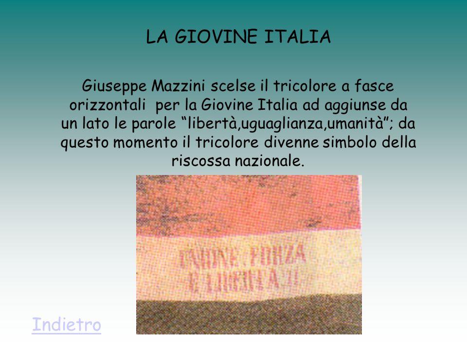 LA GIOVINE ITALIA Indietro