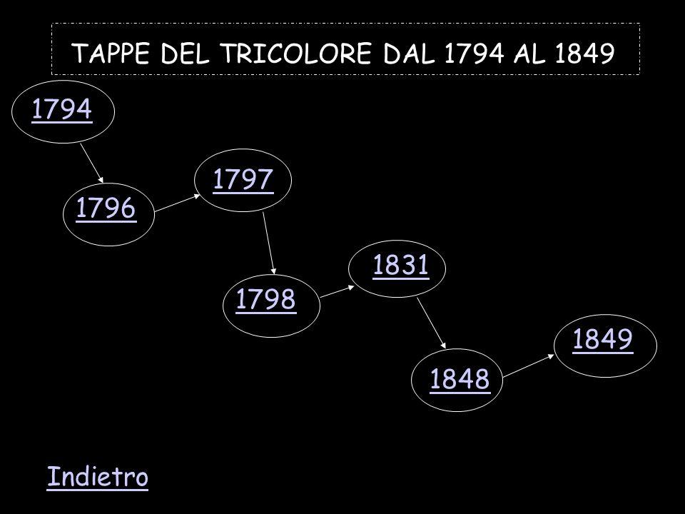 TAPPE DEL TRICOLORE DAL 1794 AL 1849