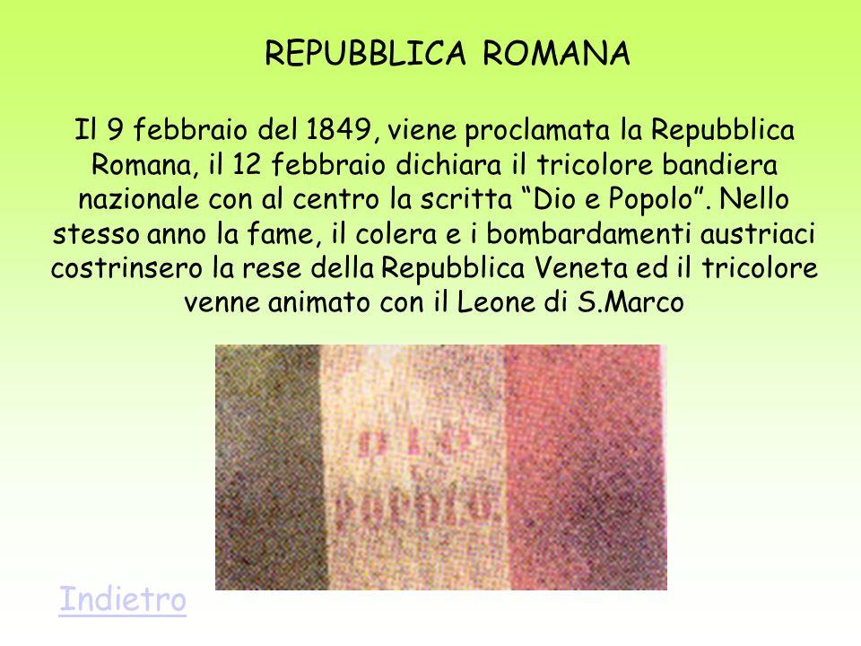 REPUBBLICA ROMANA Indietro