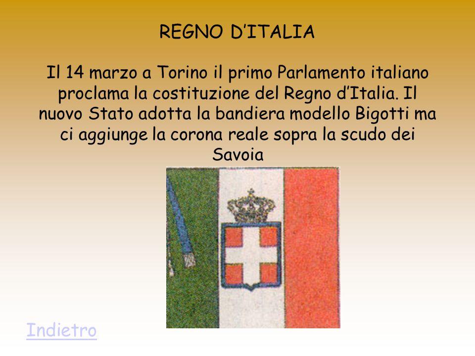 REGNO D'ITALIA Indietro