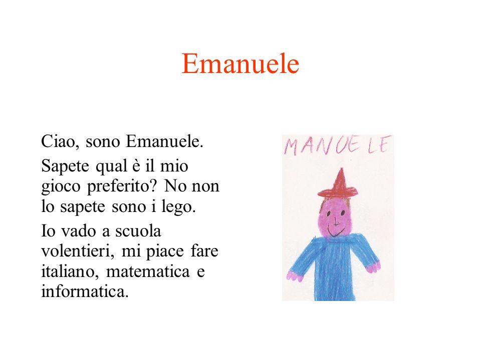 Emanuele Ciao, sono Emanuele.