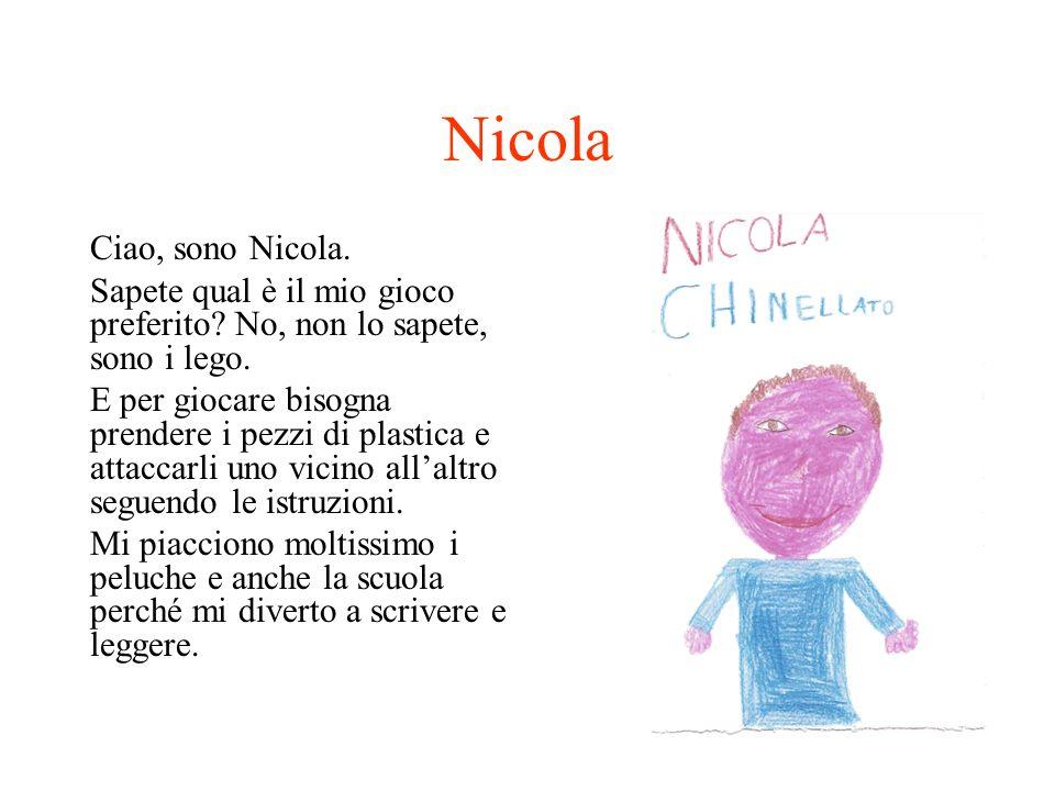 Nicola Ciao, sono Nicola.