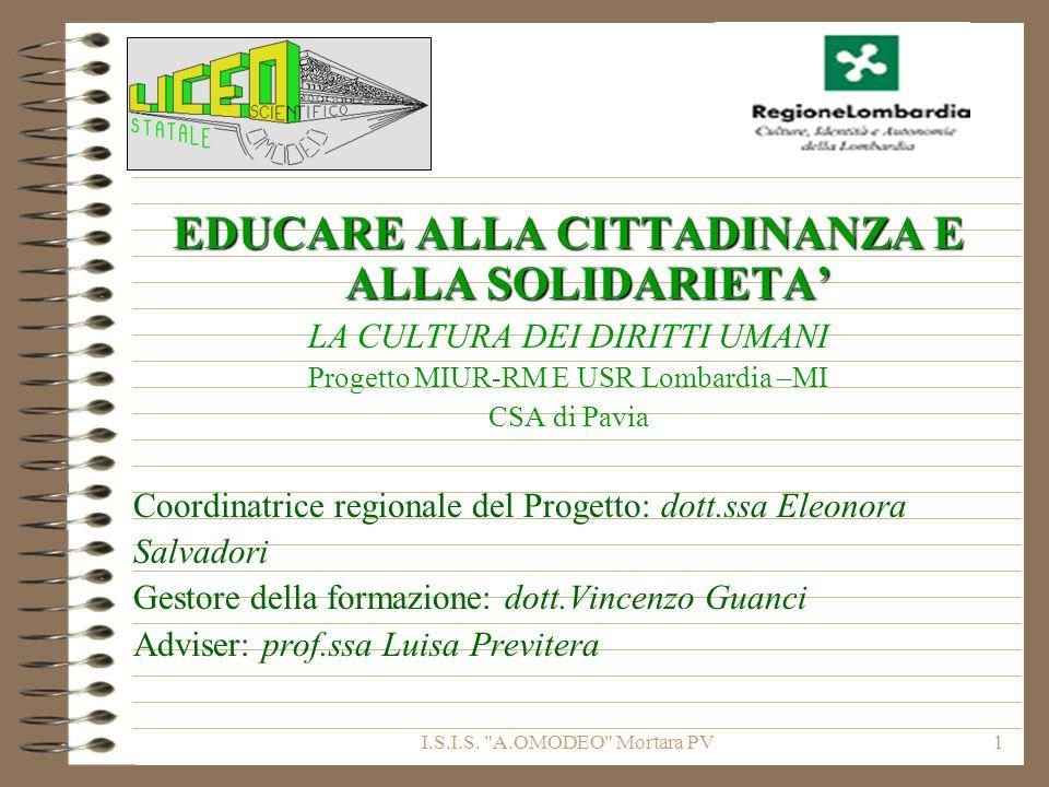 EDUCARE ALLA CITTADINANZA E ALLA SOLIDARIETA'