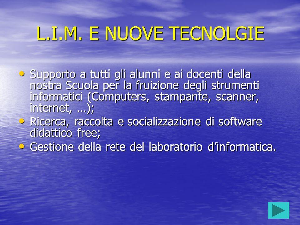L.I.M. E NUOVE TECNOLGIE