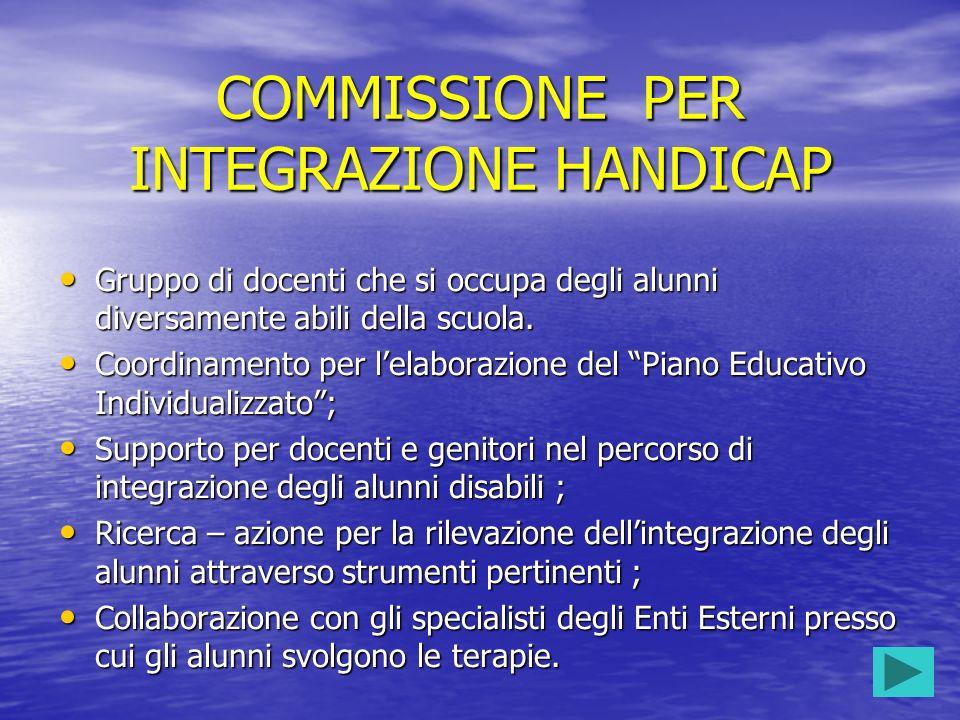 COMMISSIONE PER INTEGRAZIONE HANDICAP