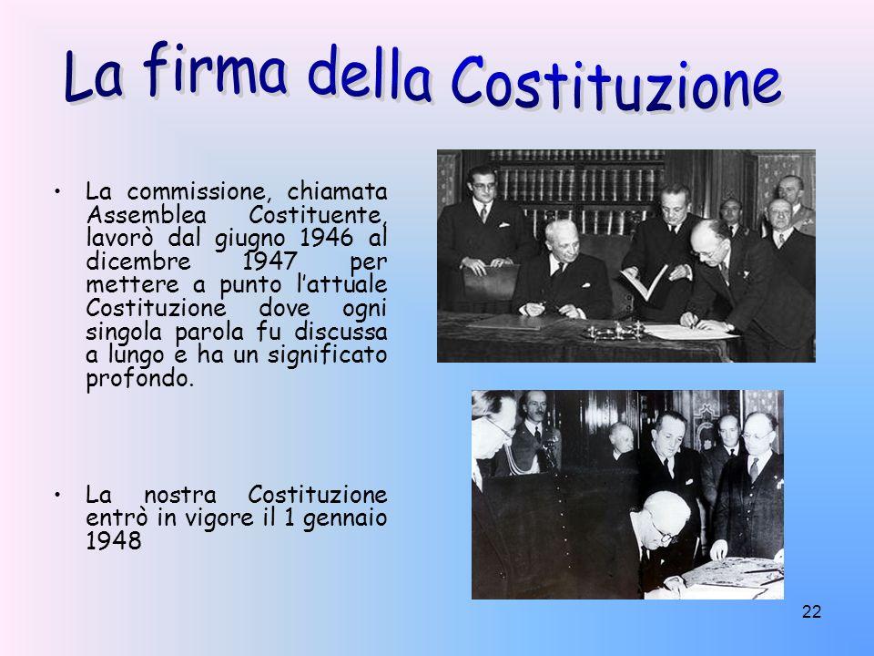 La firma della Costituzione