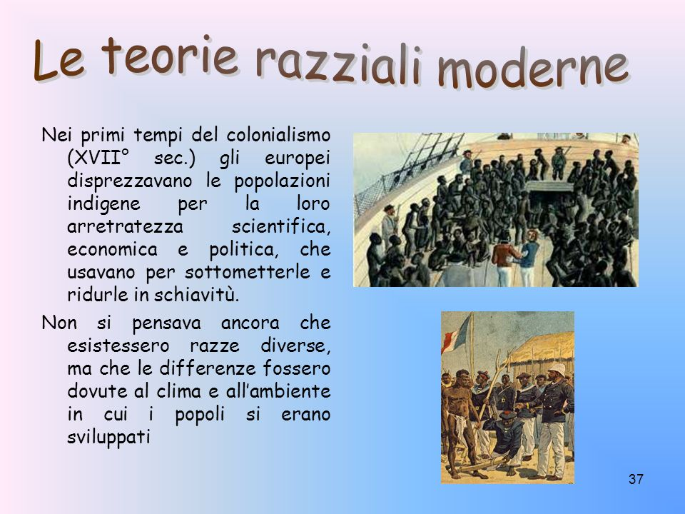 Le teorie razziali moderne