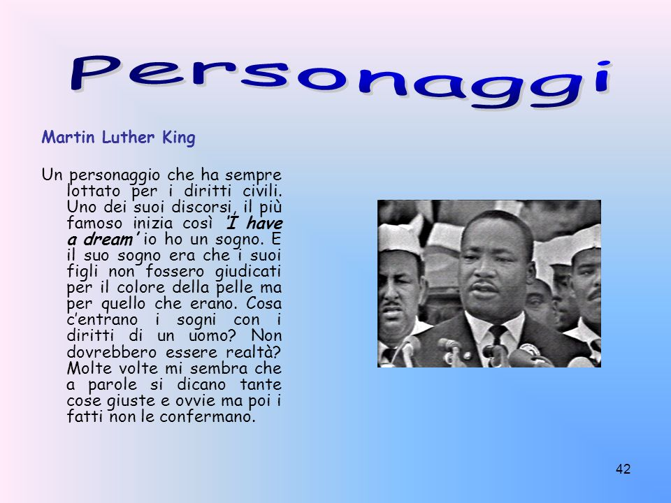 Personaggi Martin Luther King