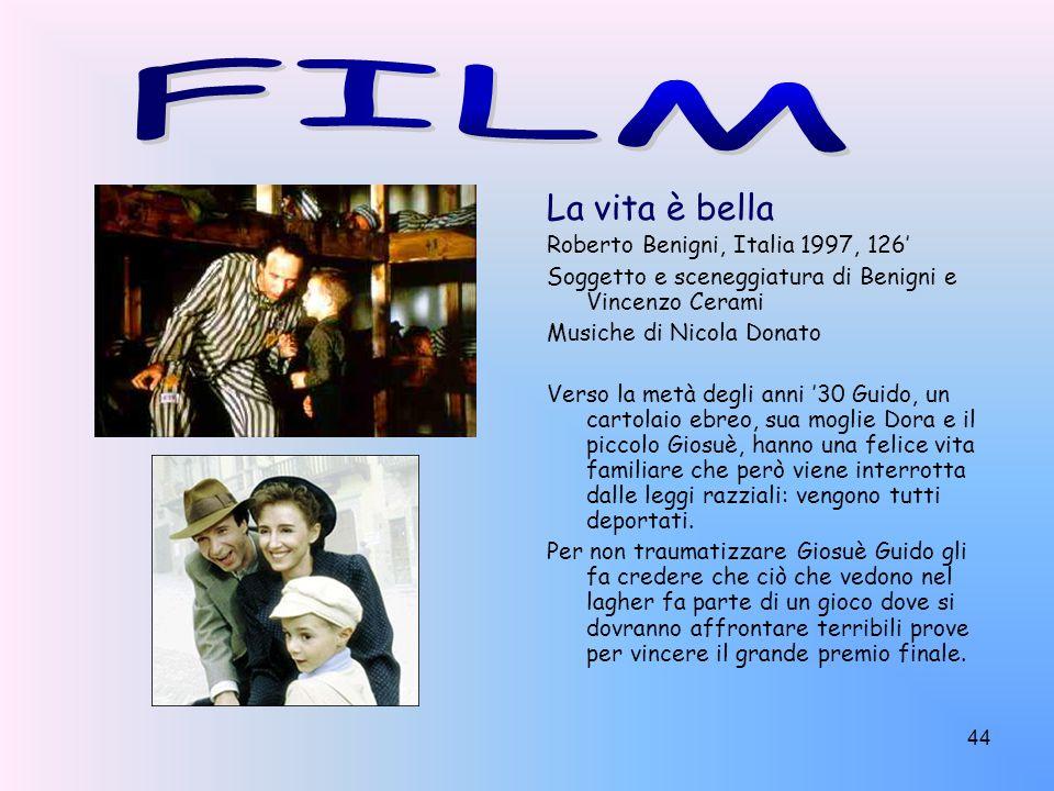 FILM La vita è bella Roberto Benigni, Italia 1997, 126'