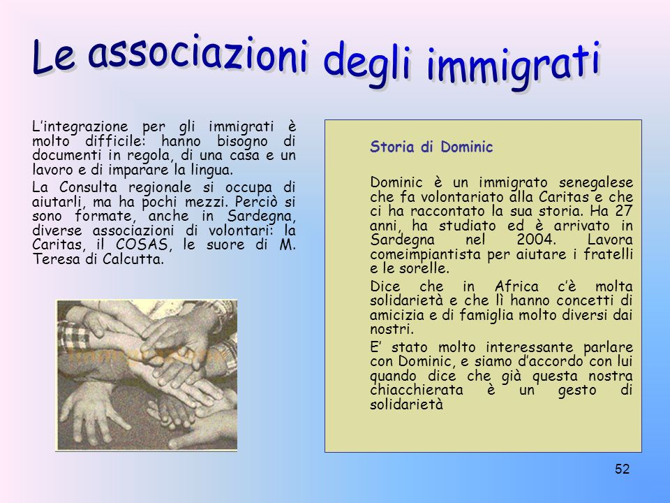 Le associazioni degli immigrati