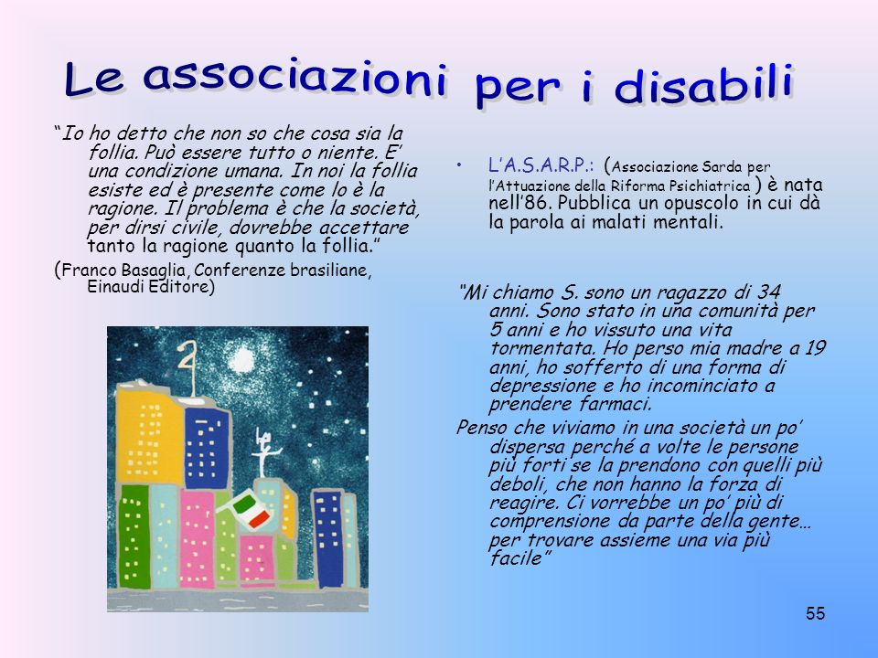 Le associazioni per i disabili