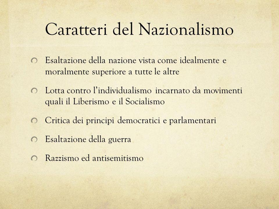 Caratteri del Nazionalismo