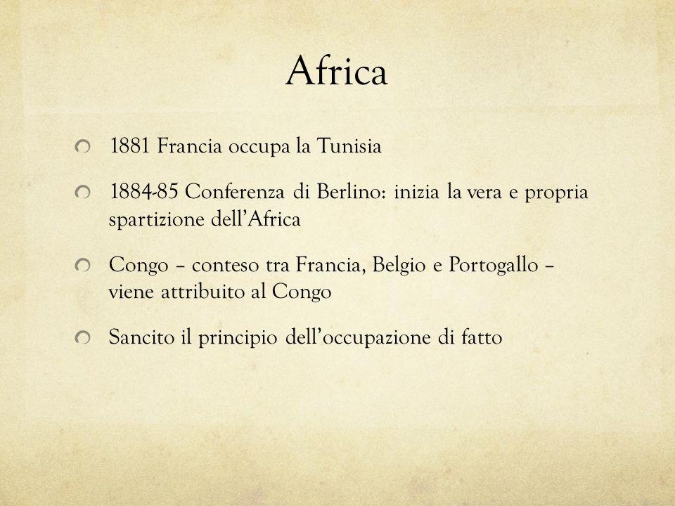 Africa 1881 Francia occupa la Tunisia