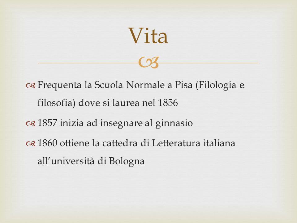 Vita Frequenta la Scuola Normale a Pisa (Filologia e filosofia) dove si laurea nel 1856. 1857 inizia ad insegnare al ginnasio.