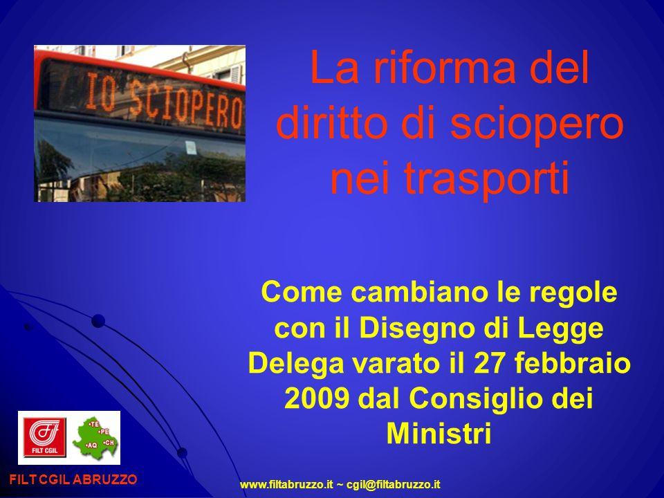 La riforma del diritto di sciopero nei trasporti