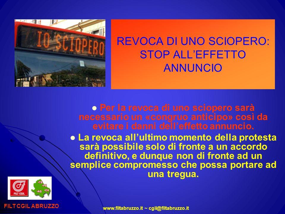 REVOCA DI UNO SCIOPERO: STOP ALL'EFFETTO ANNUNCIO