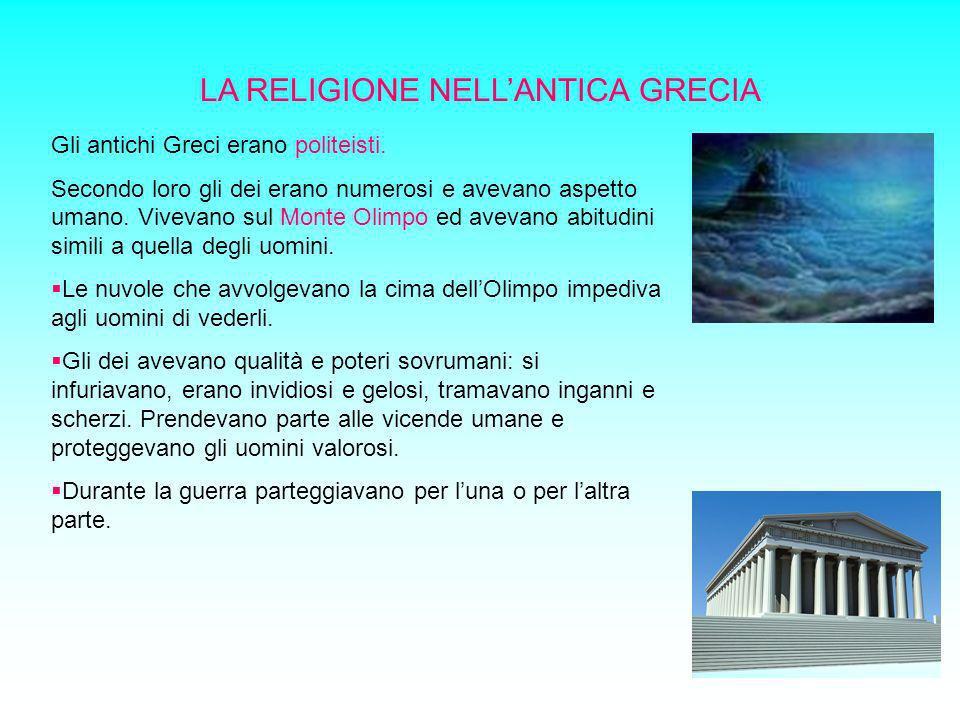 LA RELIGIONE NELL'ANTICA GRECIA