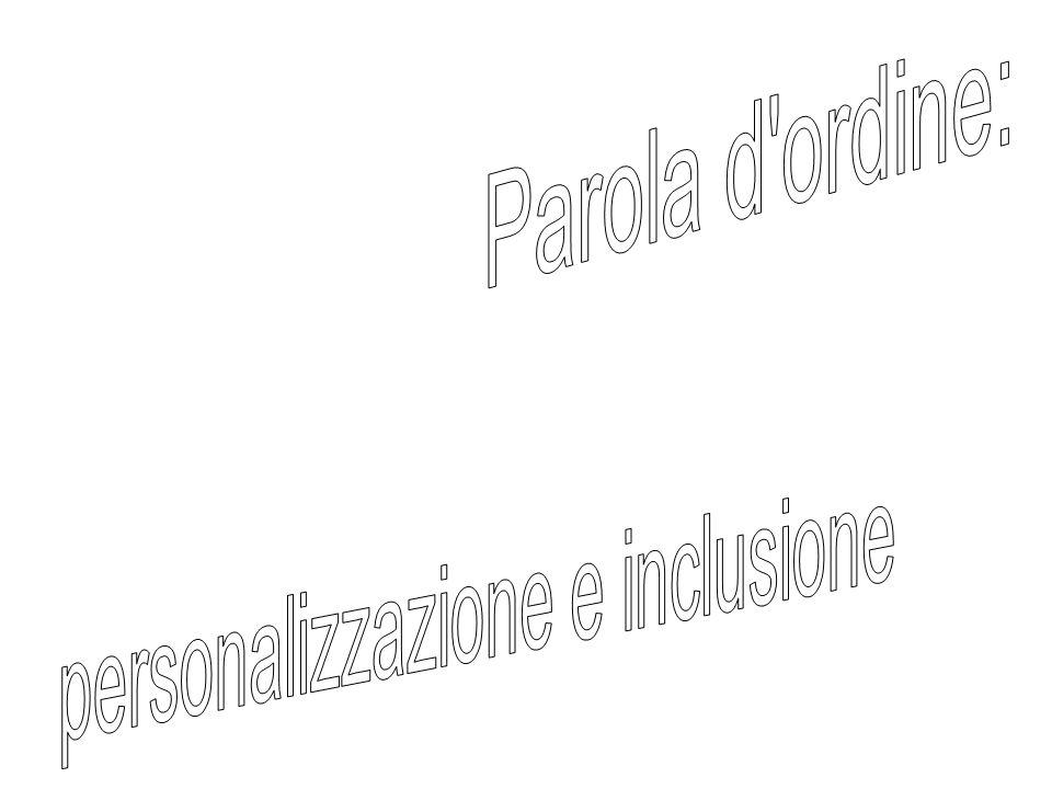 personalizzazione e inclusione