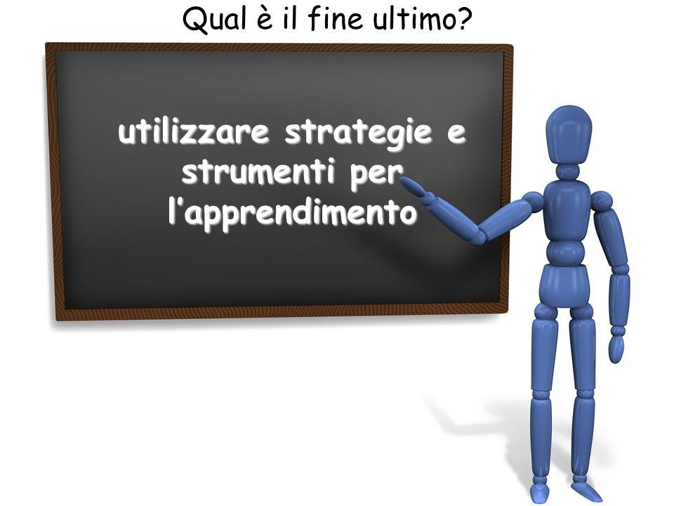 utilizzare strategie e strumenti per l'apprendimento