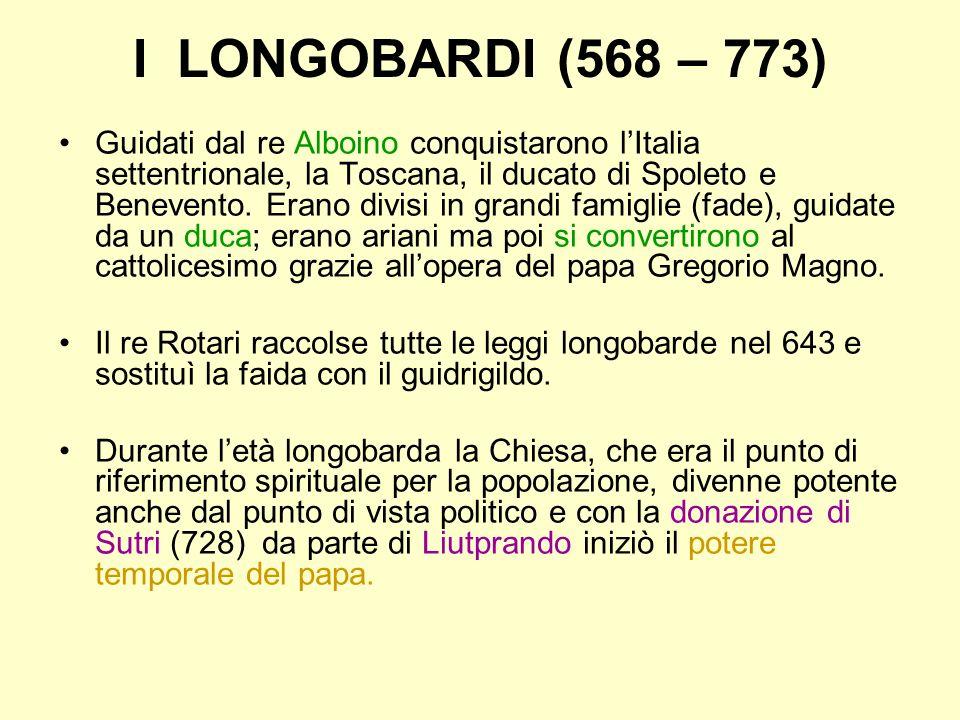 I LONGOBARDI (568 – 773)
