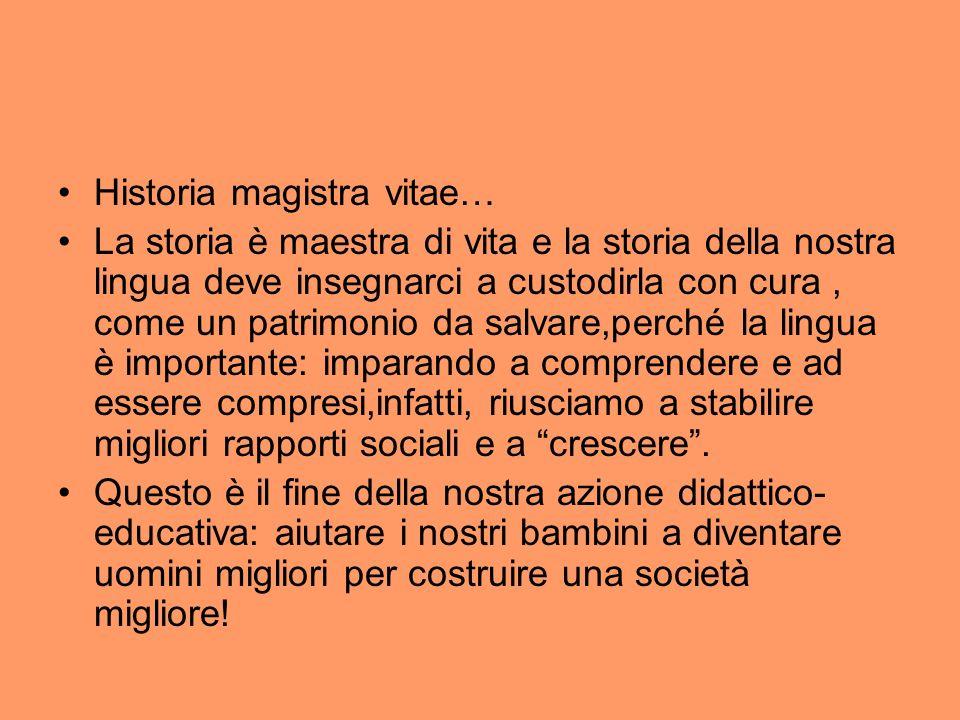 Historia magistra vitae…