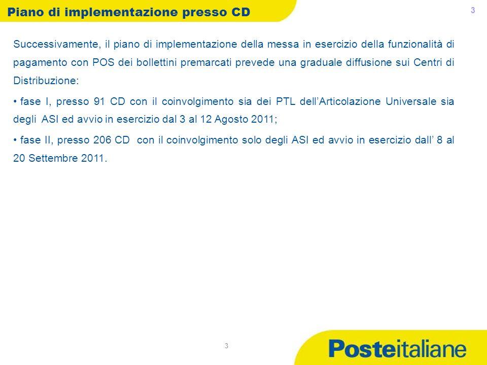 Piano di implementazione presso CD
