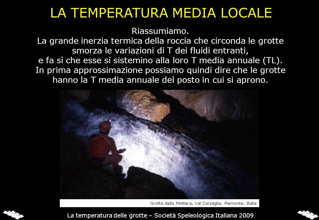 LA TEMPERATURA MEDIA LOCALE