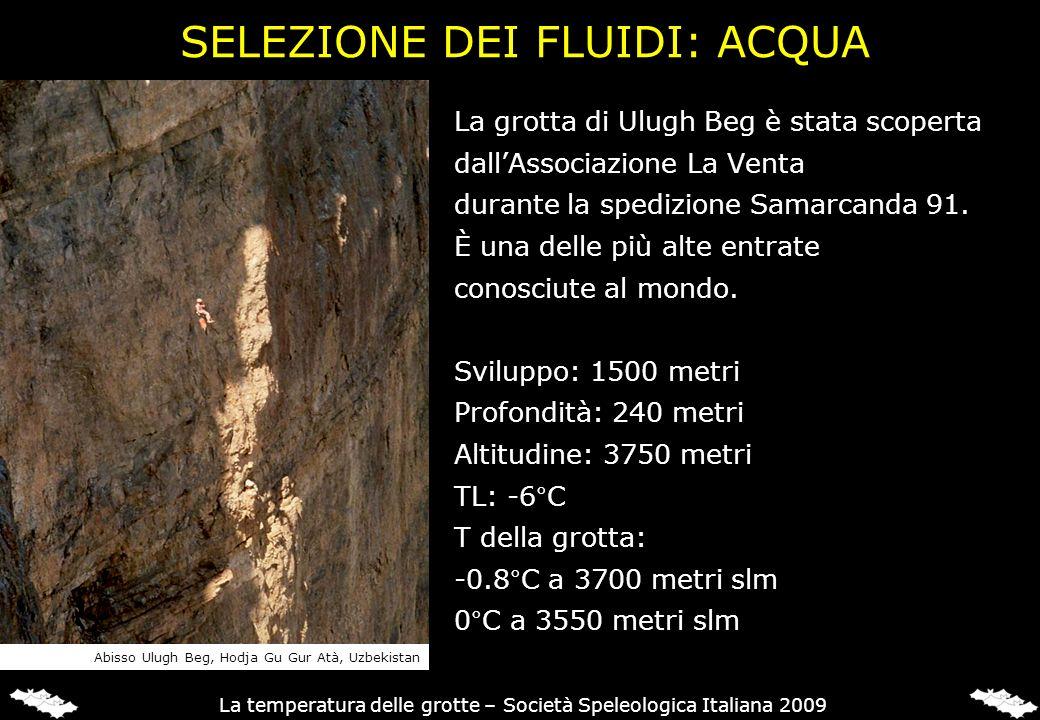 SELEZIONE DEI FLUIDI: ACQUA