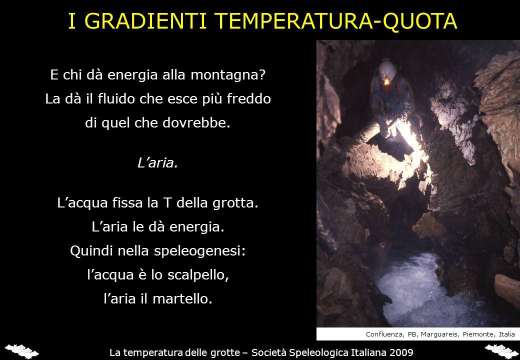 I GRADIENTI TEMPERATURA-QUOTA