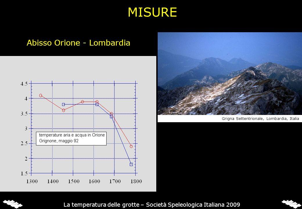 MISURE Abisso Orione - Lombardia