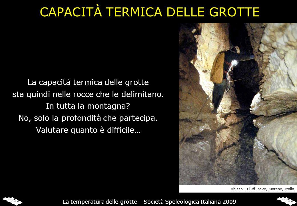 CAPACITÀ TERMICA DELLE GROTTE