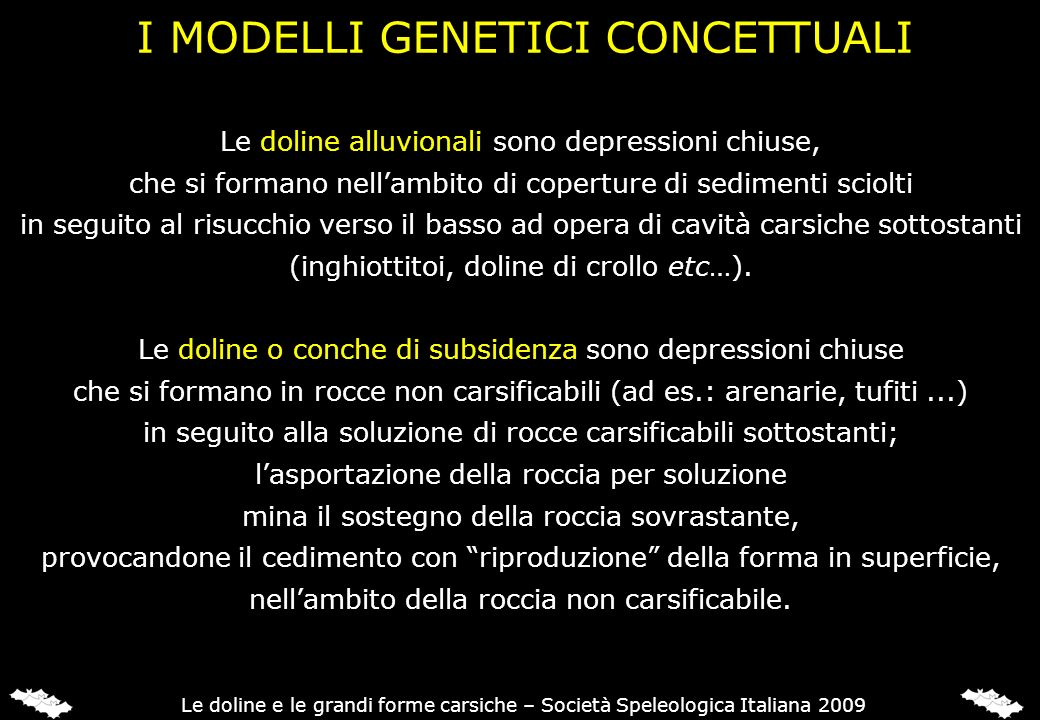 I MODELLI GENETICI CONCETTUALI