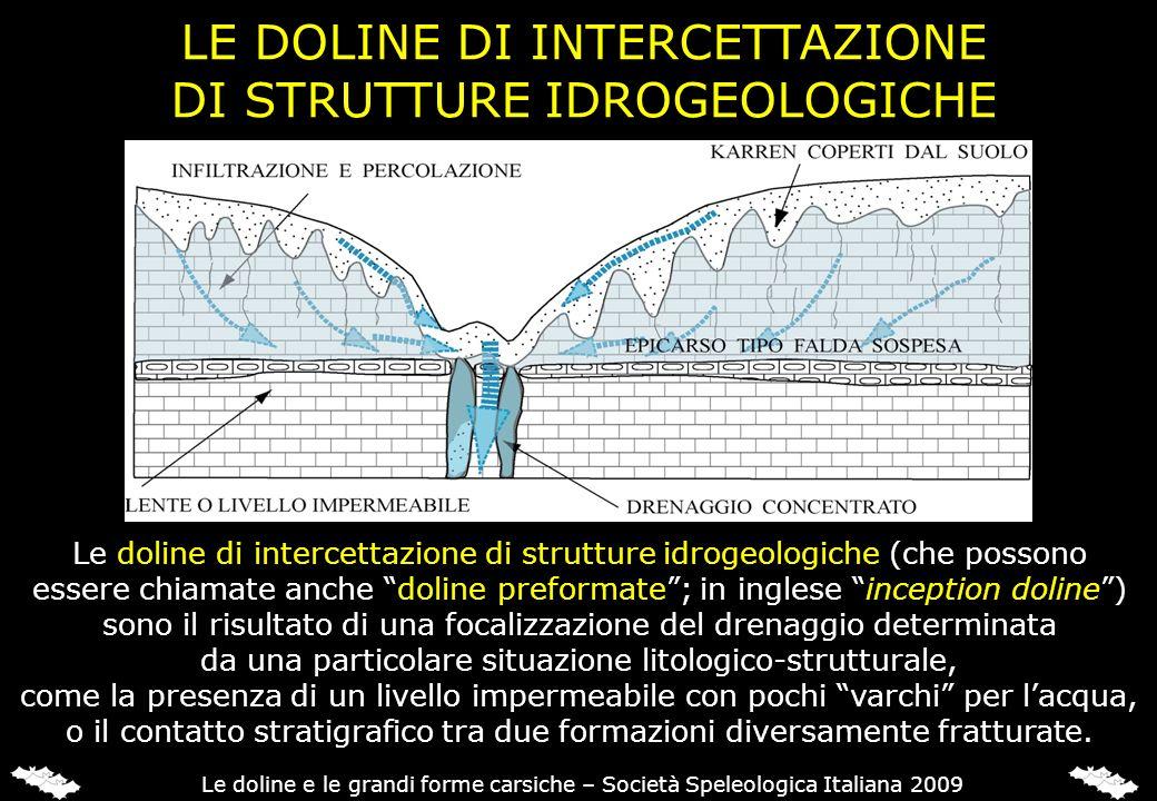LE DOLINE DI INTERCETTAZIONE DI STRUTTURE IDROGEOLOGICHE