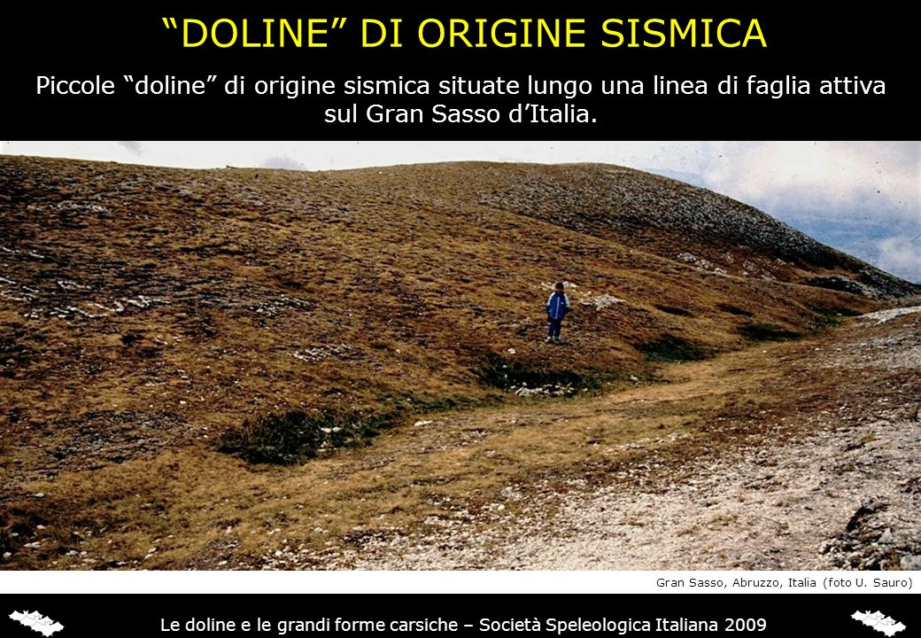 DOLINE DI ORIGINE SISMICA