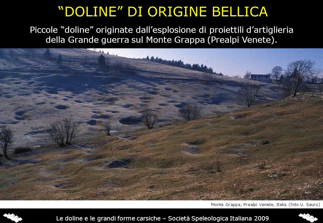 DOLINE DI ORIGINE BELLICA